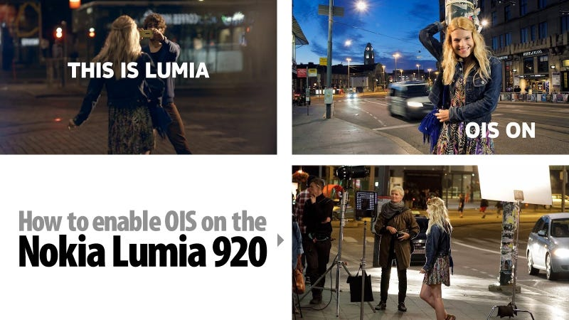 How to Enable Image Stabilization on the Nokia Lumia 920 (Not Really)