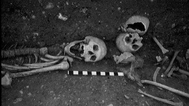 "1500-year-old English skeleton was ""ritually staked"" with iron nails"