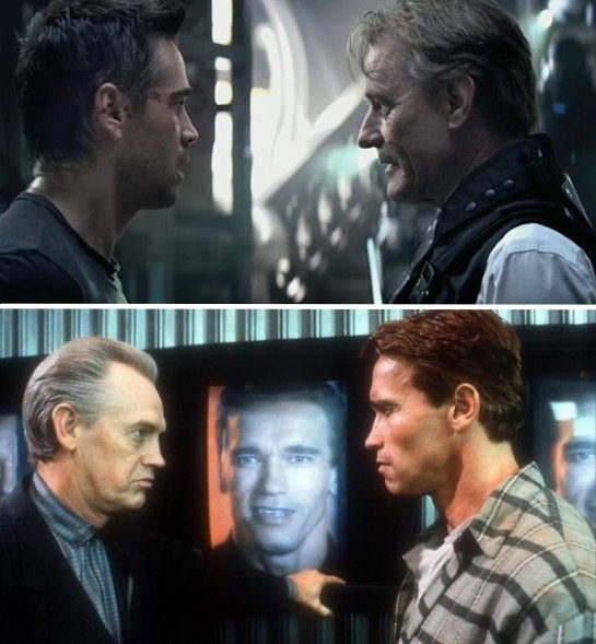How does Total Recall update Arnold's original movie? Clues From Our Set Visit!