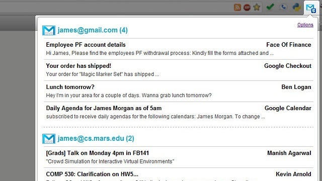 Google Mail Multi-Account Checker Tracks and Notifies You of New Emails for Multiple Accounts