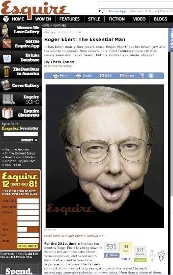 Read Esquire's Roger Ebert Profile