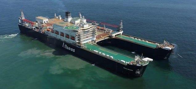 Esta ciudad flotante es el barco más ancho del mundo