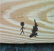 Engrave wood with a sun laser