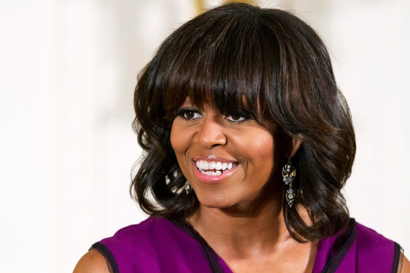 Michelle Obama Debuts Side Swept Bangs Because Benghazi