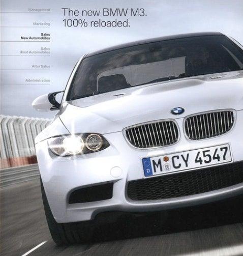 BMW M3 Brochure ist Online