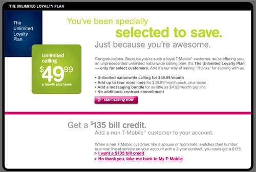 T-Mobile Loyal Customer $50 Unlimited Voice Plan Now Available Nationwide