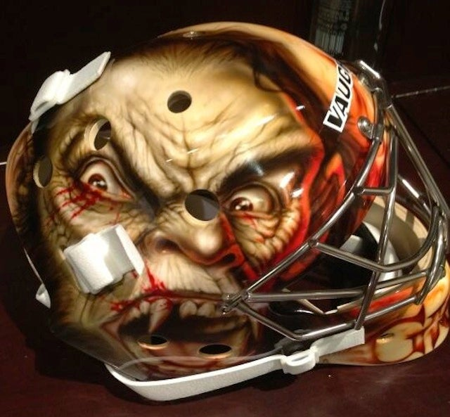 Thomas Greiss' Goalie Mask Features Some Sort Of Demonic Creature