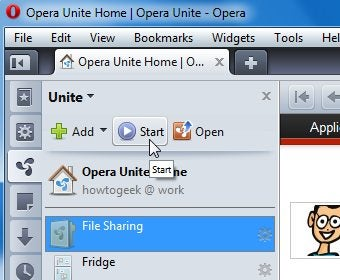 How to Share Large Files Over the Internet with Opera Unite