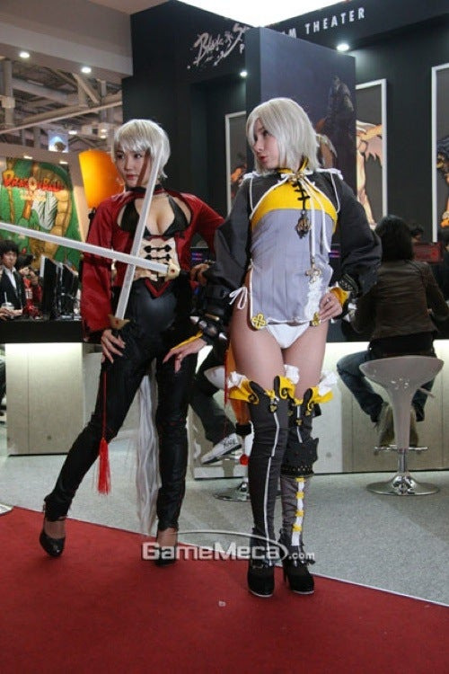 Korean Booth Babes Booted For Being Too Revealing
