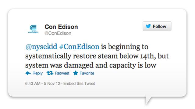 ConEdison's Twitter Jockey Is a Hurricane Hero