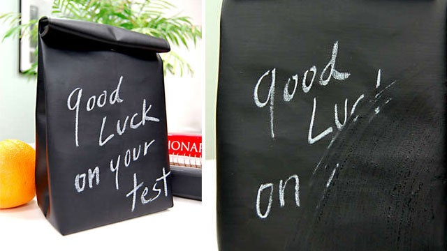 Make a Reusable, Rewritable Chalkboard Lunch Bag