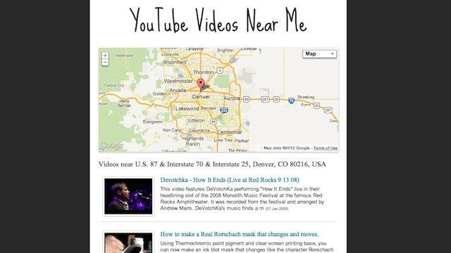 Videos Near Me Shows Videos Filmed at Certain Locations