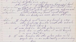 Bruce Springsteen Has The Handwriting of a Sparkly 12 Year Old Girl