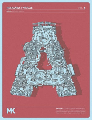 A is for Autobot: A mechanized font inspired by Transformers