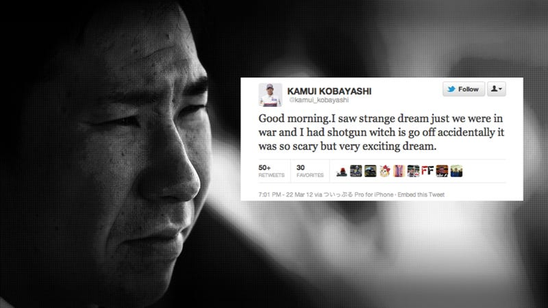 Japanese F1 Driver Tweets WWIII Prediction From Weird Dream