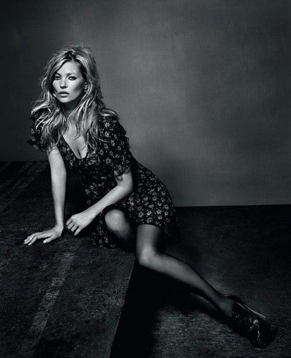 Kate Moss Repurposes A Bath Mat For Her Final Topshop Collection
