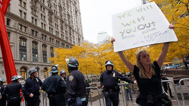 Occupy Wall Street Is Homeless