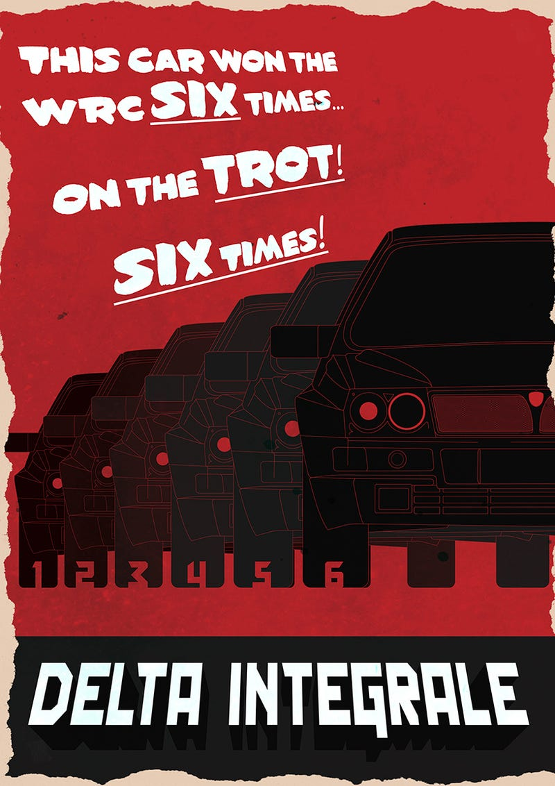 You Need These Ridiculously Cool Lancia Top Gear Posters In Your Living Room