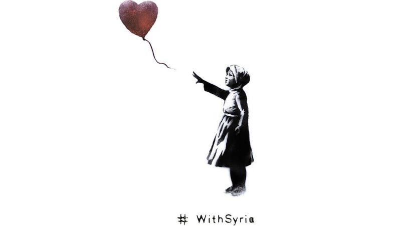 Banksy, Idris Elba to Launch #WithSyria on 3rd Anniversary of Conflict