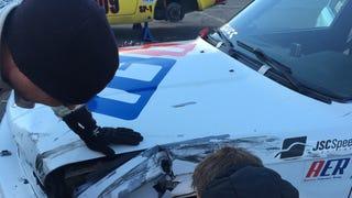Crashing A Race Car Sucks