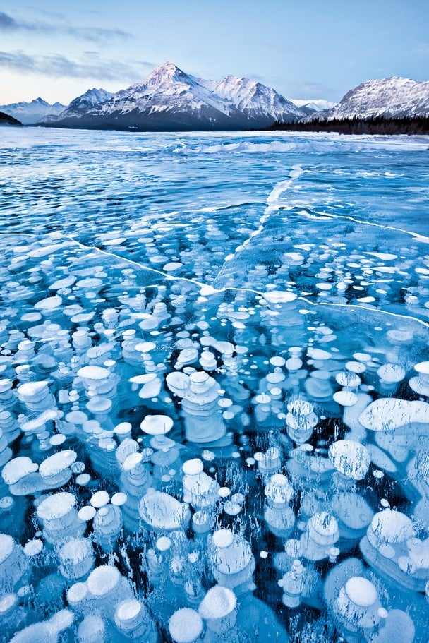 This Surreal Lake Full of Frozen Bubbles Is Actually On Planet Earth