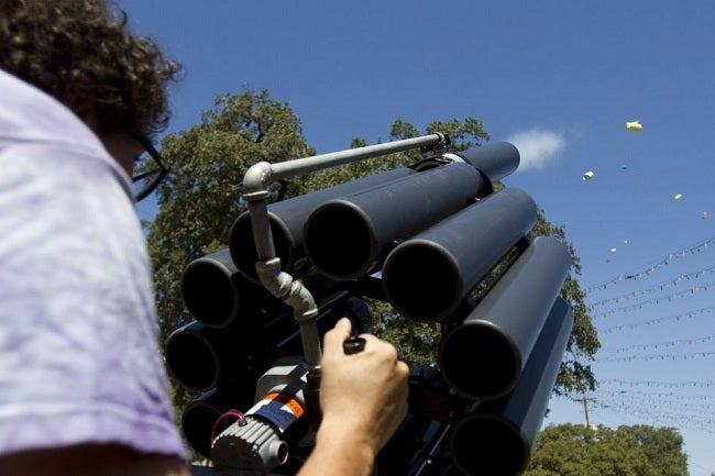 This 750-Pound Cannon Fires Delicious Tacos 200 Feet Because Texas