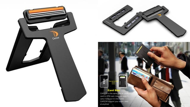 Carzor Razor Scrapes off Your Beard, Then Folds Back Into Your Wallet