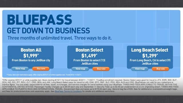 JetBlue Is Offering All You Can Jet Deal for 3 Months with BluePass