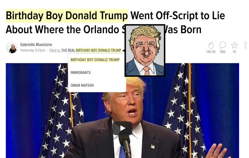 A Special Chrome Extension for Donald Trump on His Birthday