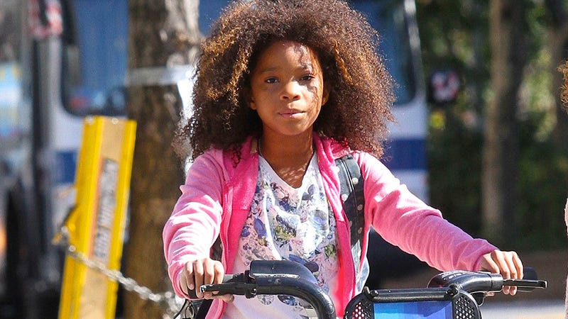 Quevenzhané Wallis Rides a Citibike in the Remake of Annie
