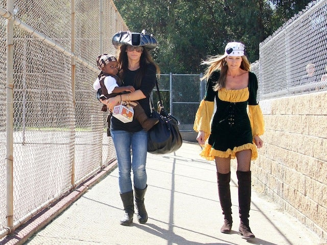 Sandra Bullock & Baby Louie Steal Cutest Pirate Title