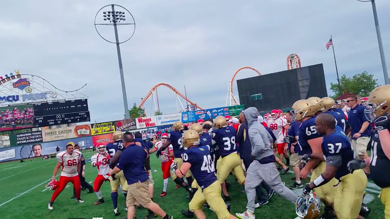 FDNY/NYPD Football Game Devolves Into Fisticuffs