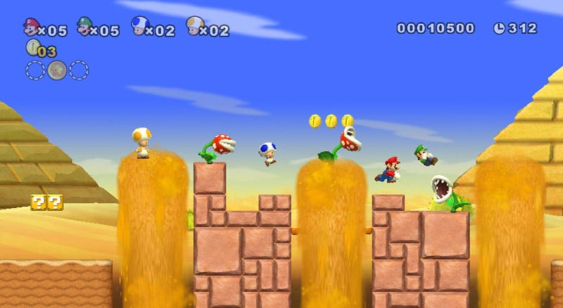 New New Super Mario Bros. Wii Screens