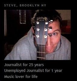 Post-Journalism Career #627: Subway Musician