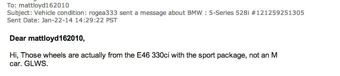 Some people just shouldn't sell cars on E-Bay