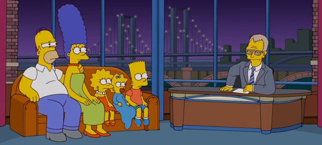 Simpsons couch gag pays homage to David Letterman