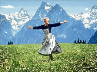 Watching Sound of Music with my students