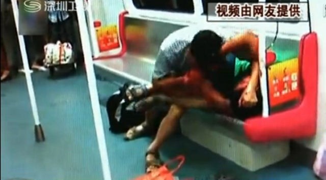 Subway Riders Shocked as Fight Over Last Seat Leads to Flesh Eating