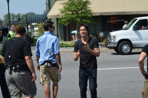 The Vampire Diaries set photos