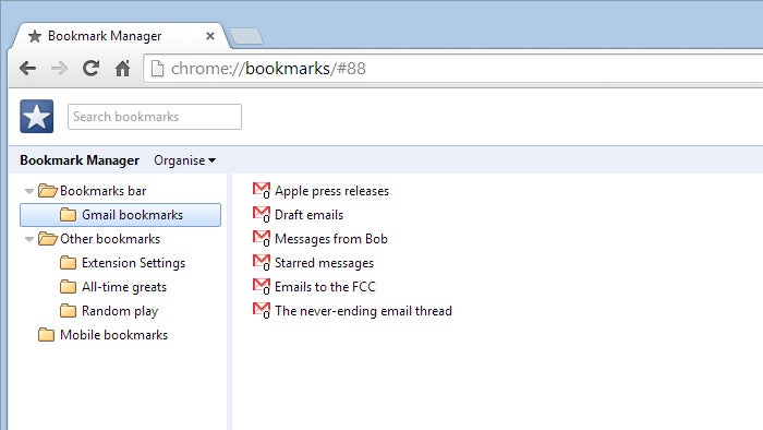 Bookmark Gmail Searches For Easy Email Reference