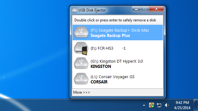 USB Disk Ejector Safely Ejects USB Drives with a Hotkey