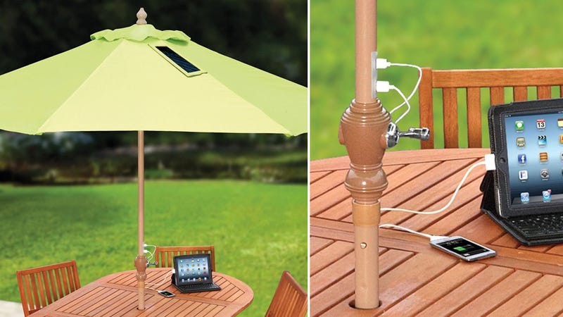 Assert Your Dominance Over the Sun With a Solar Charging Patio Umbrella