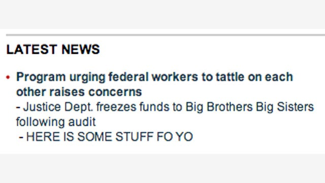 Fox News Just Had a Wonderful Homepage Malfunction