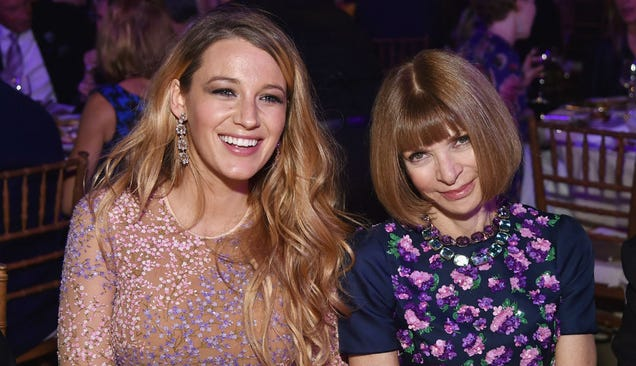 Blake Lively and Anna Wintour Plot World Domination Over Appetizers