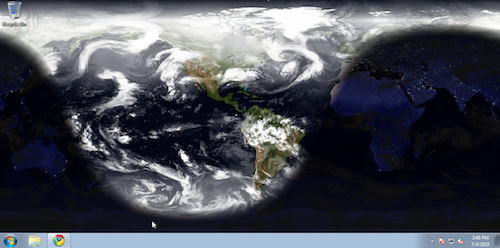Desktop Earth Sets a Rotating Picture of the Earth as Your Windows Wallpaper