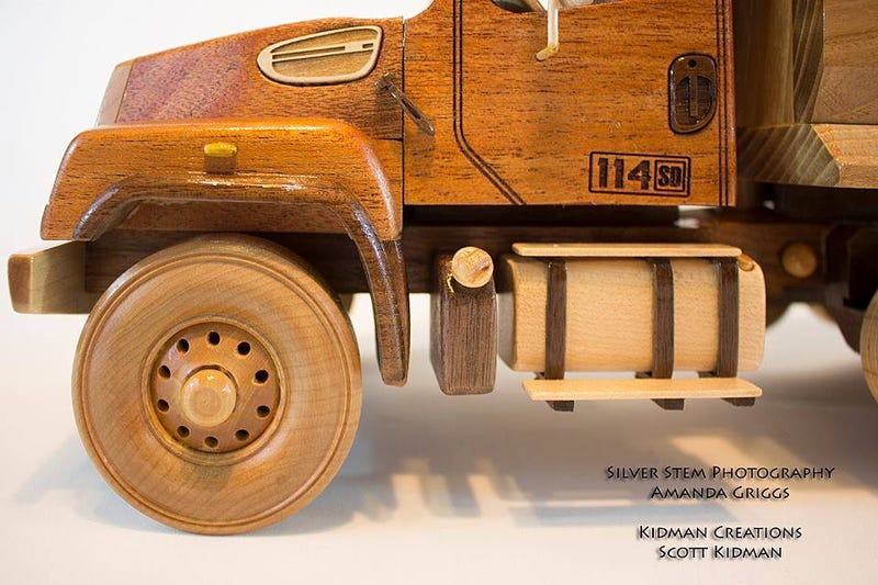 I Could Spend All Day Examining This Beautifully Detailed Wooden Truck