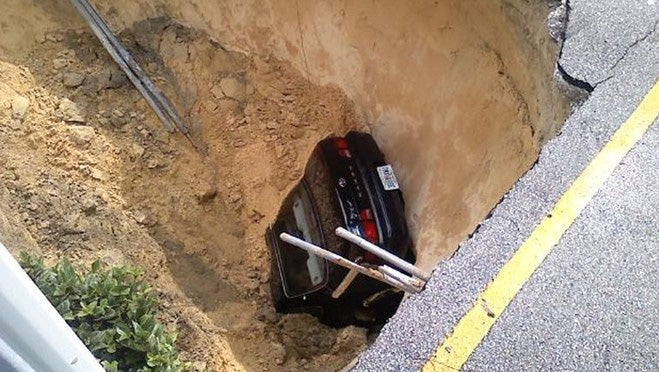 Giant Florida Sinkhole Swallows Toyota Camry