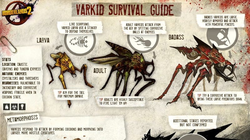 Check Out How This Borderlands 2 Creature Evolves Into A Badass Version of Itself