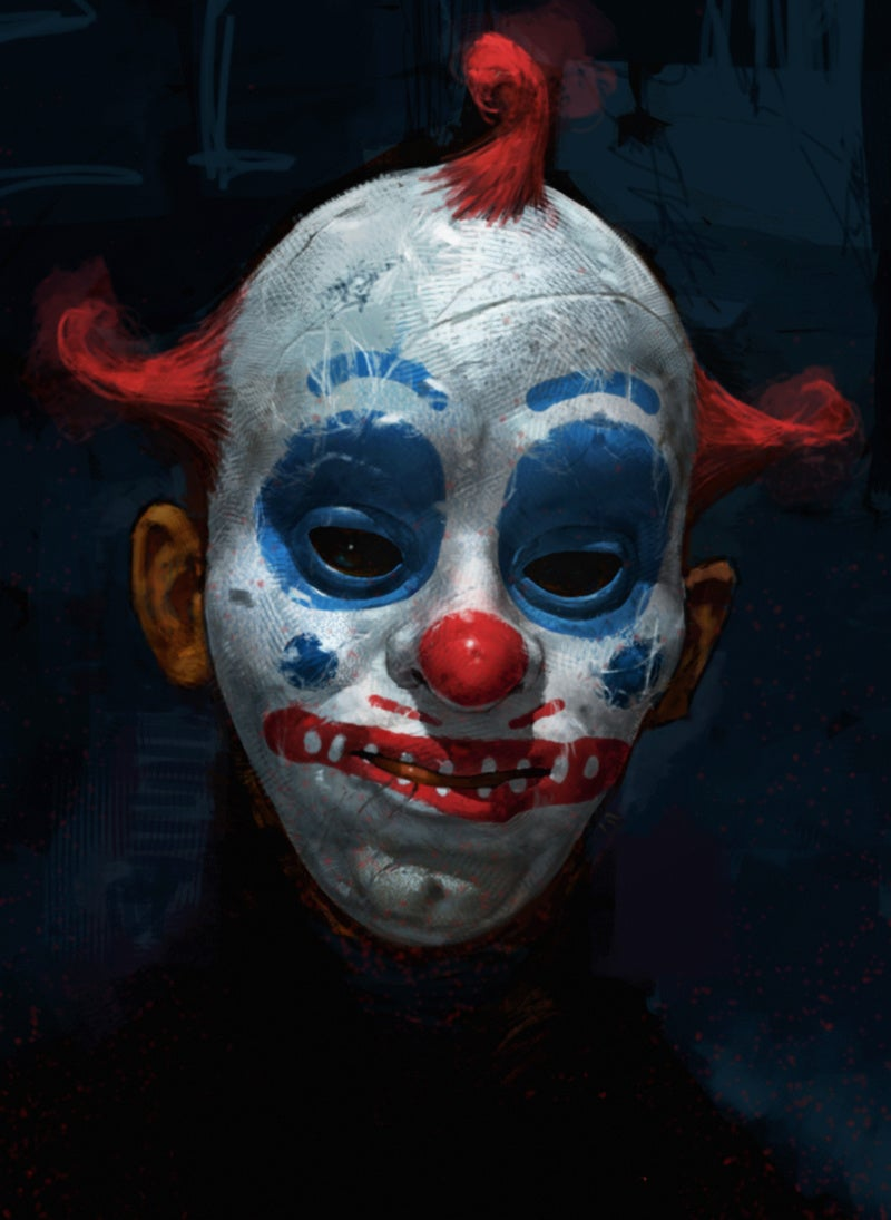 Never-seen Dark Knight concept art reveals the terrifying origins of the Joker's Clown Gang