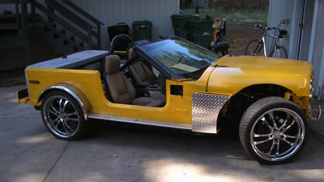 The Jeepvette is what happens when Jeep and Corvette combine